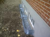 Installation de margelles fissure dumont inc drains for Installation fenetre sous sol